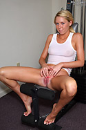 Brynn Tyler Works Out Her Pussy with Two Vibrators  from ALS Angels