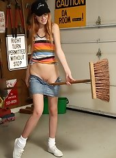 Rita Lovely Gets Broom Handle Rammed in Shaved Pussy – 9/2/11